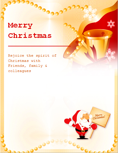 Christmas Flyer Template  Microsoft Word Template Flyer