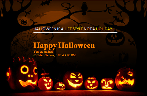 MS Word Halloween Party Invitation Card Templates | Word & Excel ...