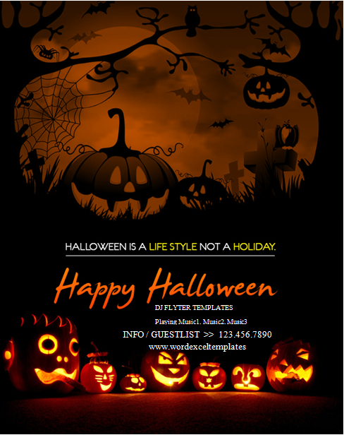 Ms word halloween party flyer templates word excel for Free halloween flyer templates