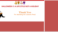 Halloween thank you card template