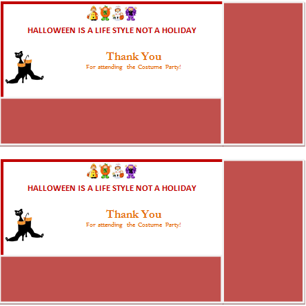 MS Word Halloween Thank You Card
