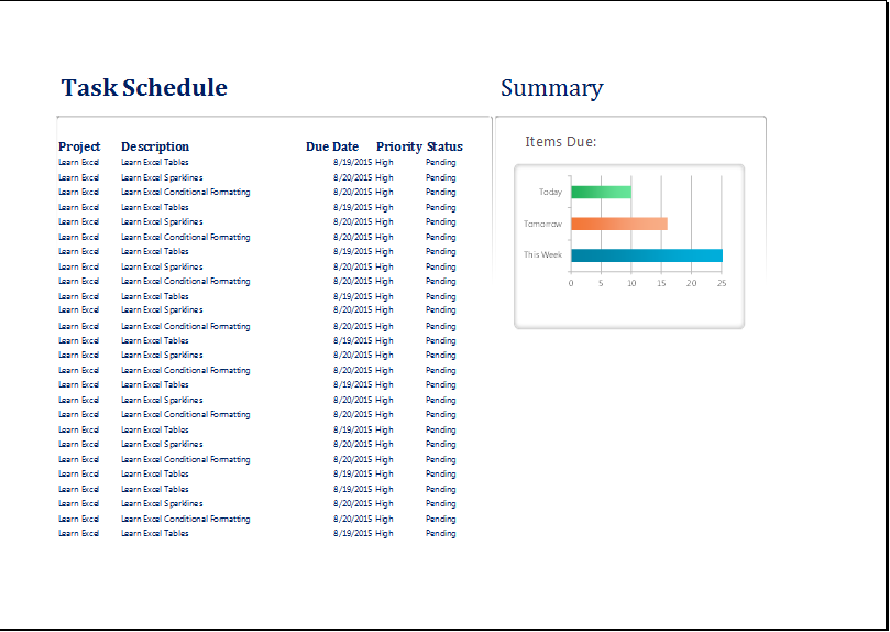 task scheduler template