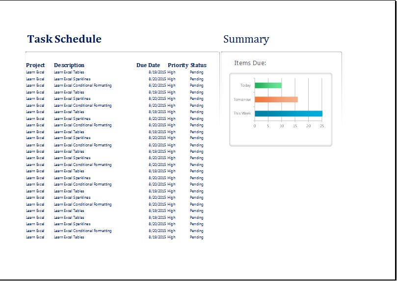 Personal Task Schedule Planner