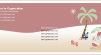 Christmas envelope template