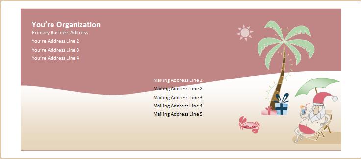 Christmas envelope template