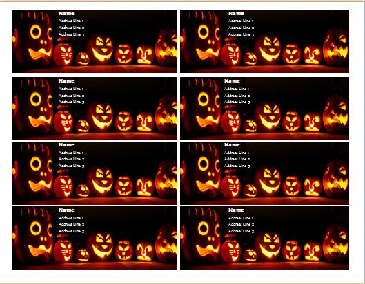 halloween tag template
