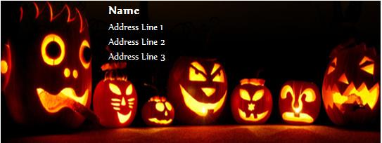 Halloween address label template