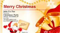 Christmas party invitation cards template