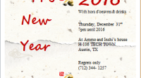 new year party invitation card template