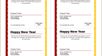 new year post cards template