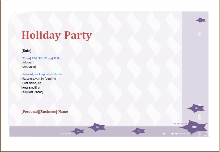 Holiday party invitation template ms word word excel templates holiday party invitation template stopboris Choice Image