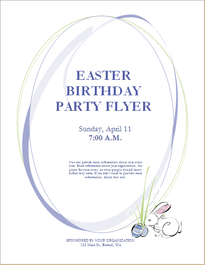 easter birthday party flyer