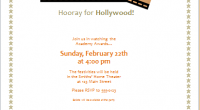 Movie Award Party Invitation Sample