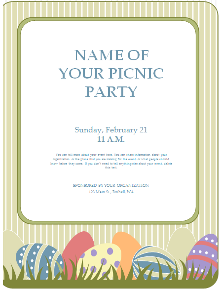 Preview U0026 Details Of Picnic Flyer Template