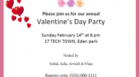 valentine's day party invitation card