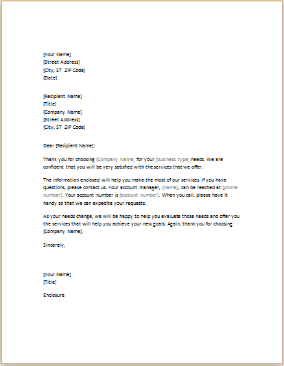 introductory letter to new client