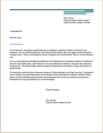 mail merge letter