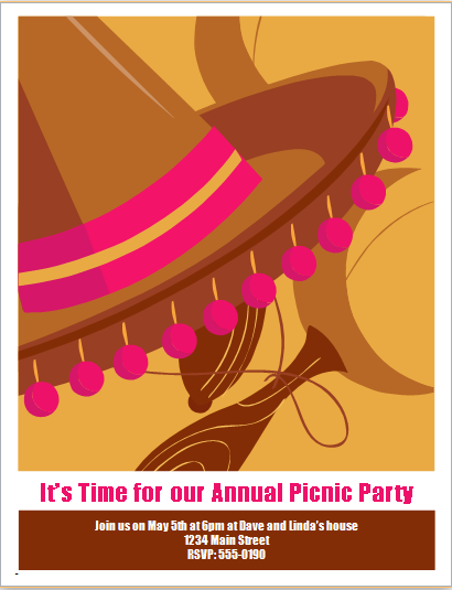 Picnic part flyer