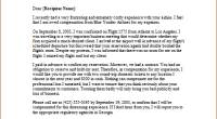 complaint letter about overbooked flight
