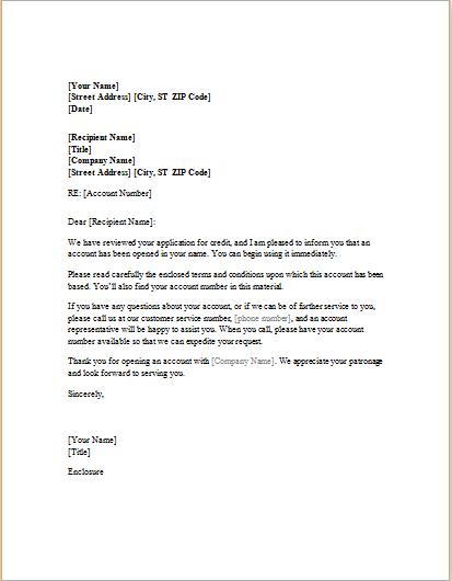 credit approval letter