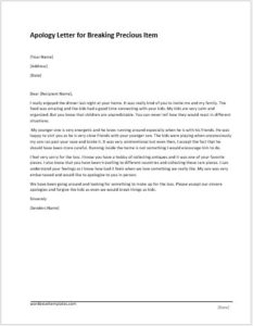 Apology Letter Templates For WORD