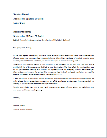 letter appeal termination dismissal letter templates for word doc word amp excel 5642