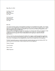 Grievance letter template for word doc word excel for Acas templates