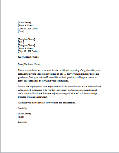 response letter template for word