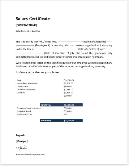 Salary Request Letter Template .Doc | Word & Excel Templates