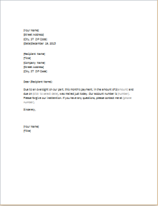 letter of apology for late payment