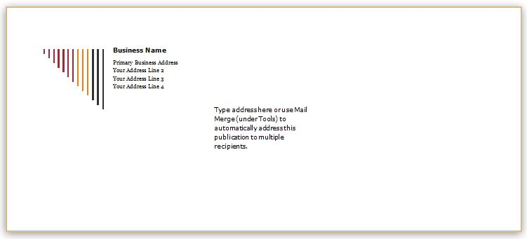 Editable Envelope Templates For Ms Word  Word  Excel Templates
