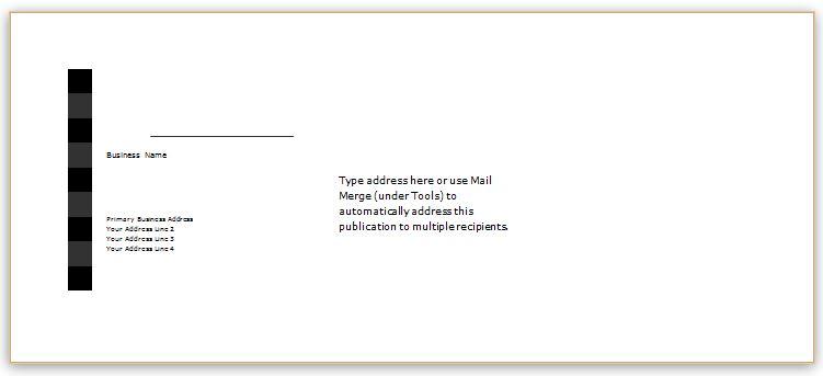 Sample Envelope Template