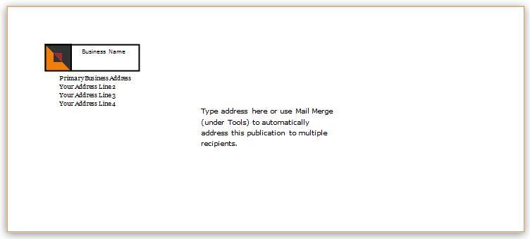 Envelope Sample for WORD