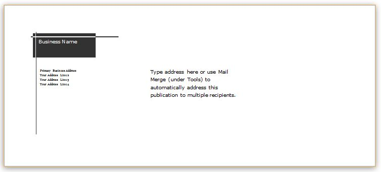 how to create an envelope template in word