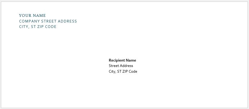 Envelope with Letterhead