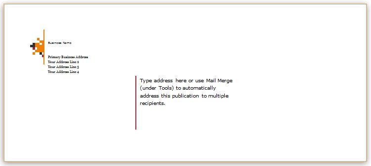 Envelope Template for Microsoft Word