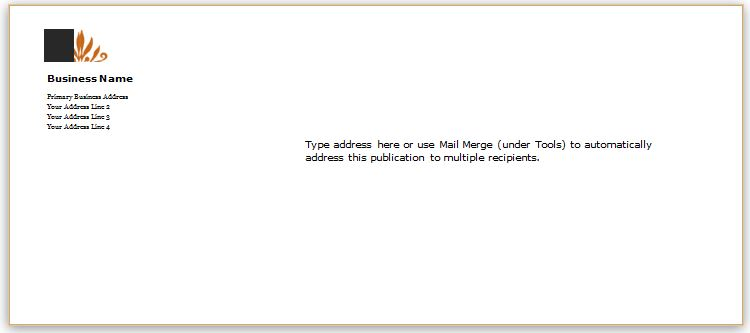 Envelope Template for MS Word