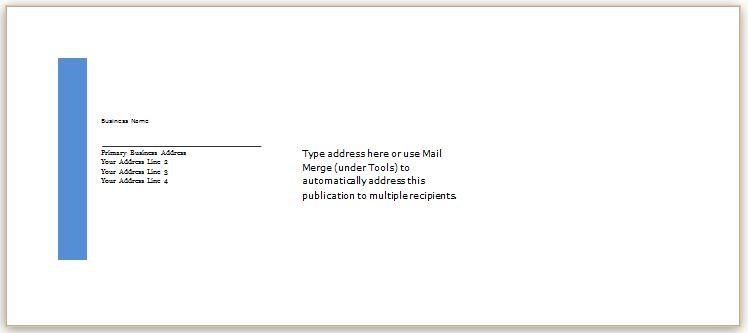 Envelope Template WORD