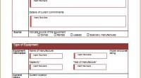 Equipment Demand Sheet