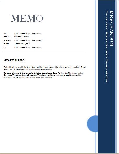 24 Free Editable Memo Templates For Ms Word Word Amp Excel Templates