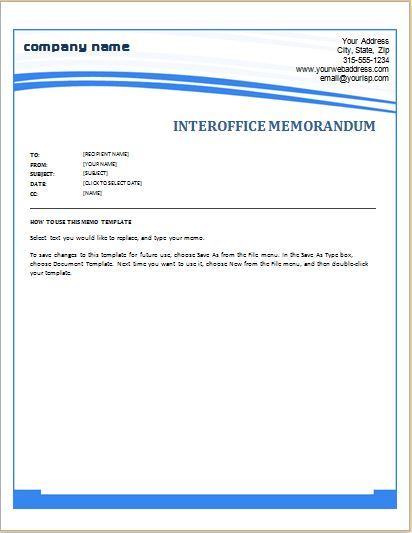 Office Memorandum Template