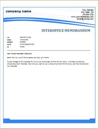 Office Memorandum Template