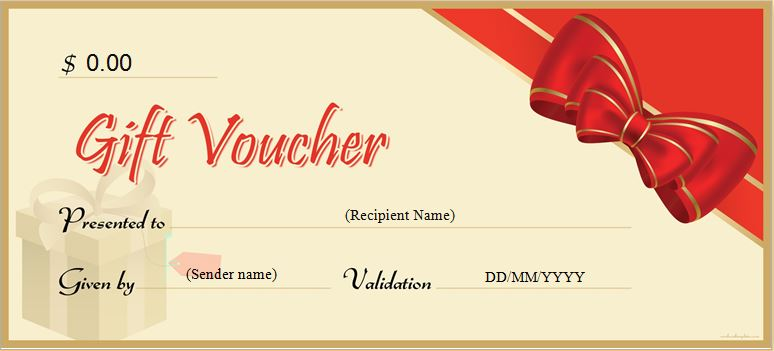 Gift Voucher Templates for MS Word