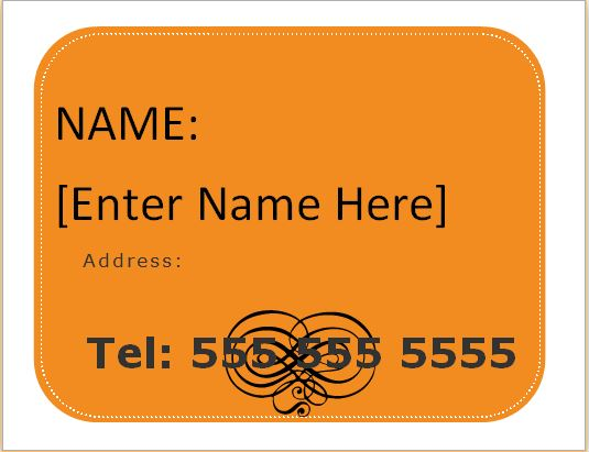 Luggage Tag Templates For Ms Word Word Amp Excel Templates