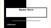 Luggage Tag Template for WORD