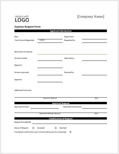 Expense request form