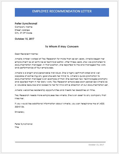 Letter Of Recommendation Word Doc from www.wordexceltemplates.com