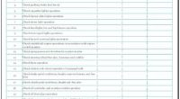 Vehicle Performance Checklist Template