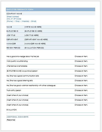 Employee Feedback Form