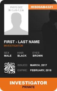 Investigator Photo ID Badge Template